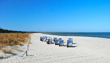 Strand von Prerow mit Strandkörben