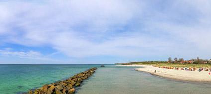 Blick auf den Strand von Wustrow